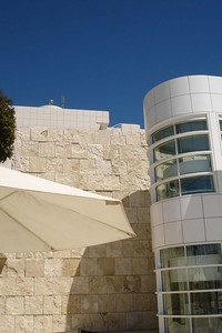 Lunch at The Getty, with our favourite blue skies