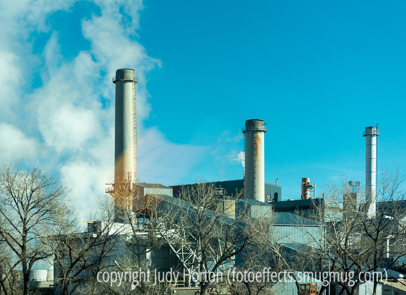 Power Station on a Winter Day