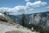View down Yosemite Valley toward El Capitan from Sentinel Dome