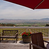 The view from the deck off the tasting room at Hahn winery in Soledad, CA.