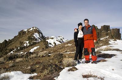 Top of the ridge (8,250 ft).