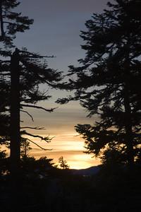 Sunrise over the Sierra Nevada range.