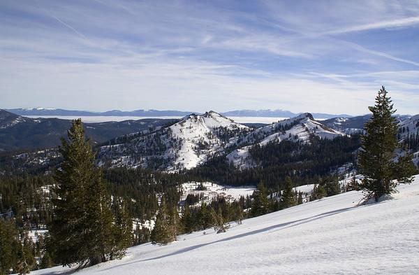 Silver Peak, Lake Tahoe, and the Heavenly Mountain range on the horizon.