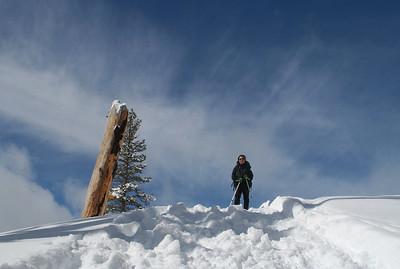 Judy posing at the Horizon Ridge.