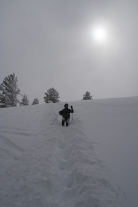 Our version of the snowshoe descend.