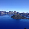 Crater Lake, with a view of Wizard Island.