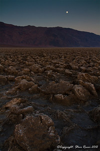 """Devil's Golf Course"" after sunset, Death Valley National Park - California."