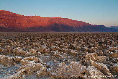 """Devil's Golf Course"" at sunset, Death Valley National Park - California."