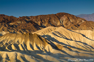Looking over the Zabriske badlands at sunrise, Death Valley National Park - California.