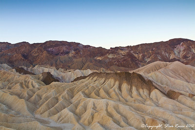 Looking out over the Zabriske badlands, Death Valley National Park - California.