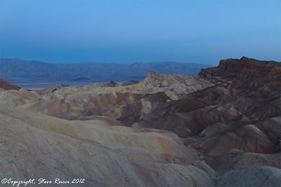 Waiting for sunrise at Zabriske Point, Death Valley National Park - California.