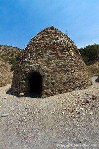 View of one of the individual charcoal kilns in Wildrose Canyon, Death Valley National Park - California.