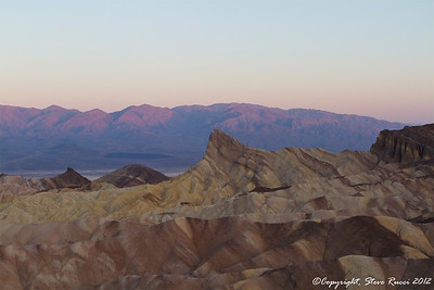 Sunrise at Zabriske Point, Death Valley National Park - California.