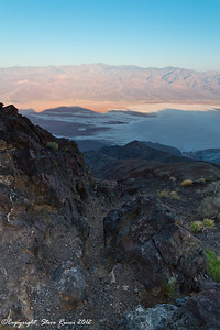 Sunrise at Dante's Point, overlooking the salt flat of Death Valley National Park - California