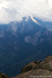 The view from the top of Moro Rock as storm clouds roll in, Sequoia National Park - California.