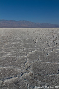 Out on the salt flat at Badwater Basin in Death Valley National Park, California.