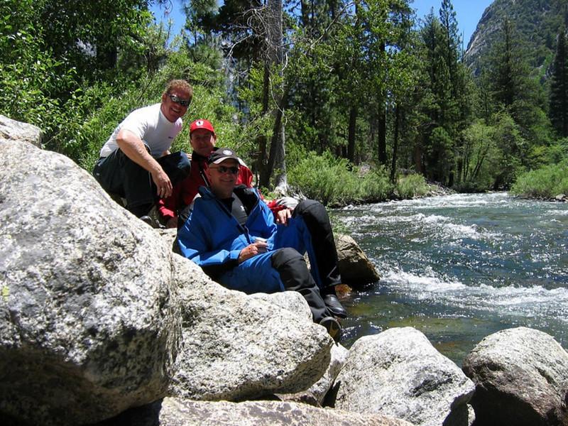 Craig, Tom, Glenn at King's River, King's Canyon