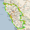 The ride began in Bakersfield heading west over the coast range to San Luis Obispo, then north to Monterey on hwy 1.