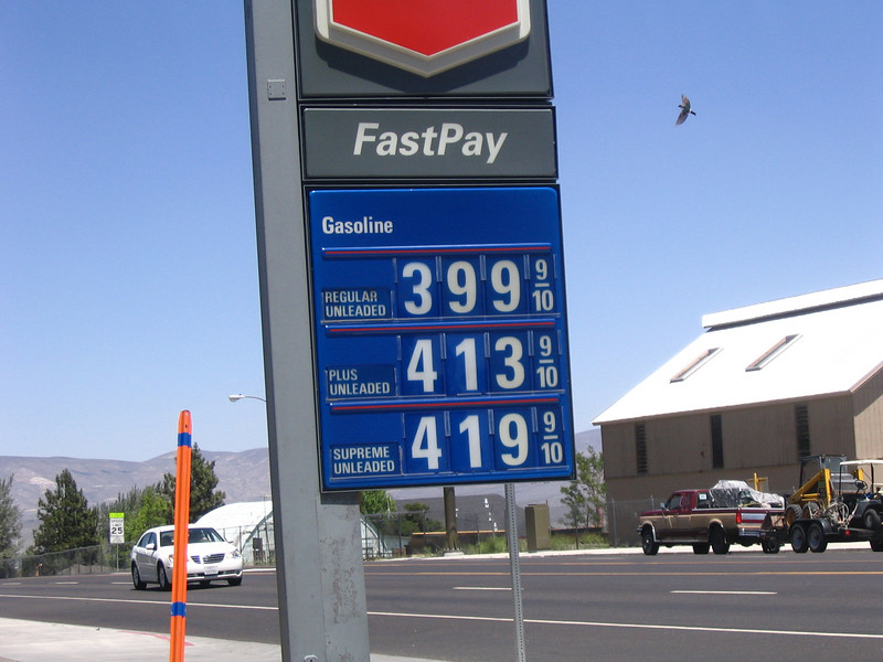 Wednesday - near Yosemite, the highest gas prices we saw