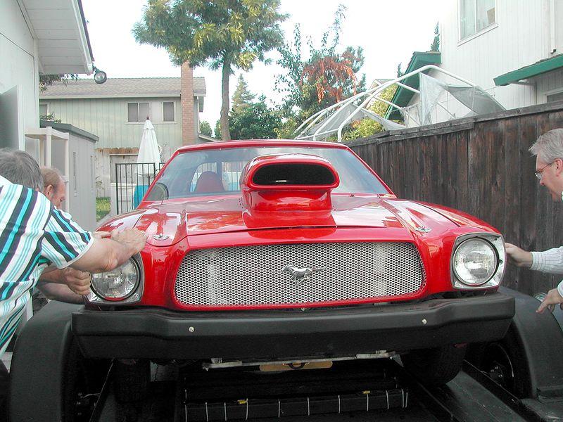 Grant's Mustang race car