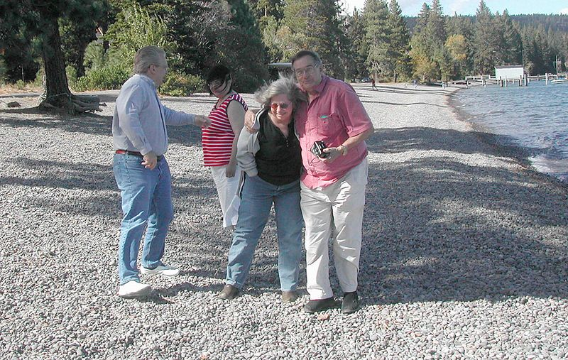 Donner Lake beach, Grant, Yehlen, Annie, Gail