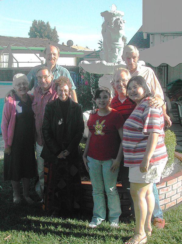 Ailsa, Bill S, Gail, Betty, young Gail, Grant, Gordon, Yehlen