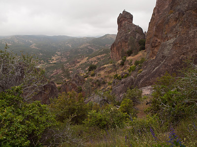 nearing the High Peaks at Pinnacles National Monument.  The Chalone indians lived here seasonally, leaving when temps went into the 100s.