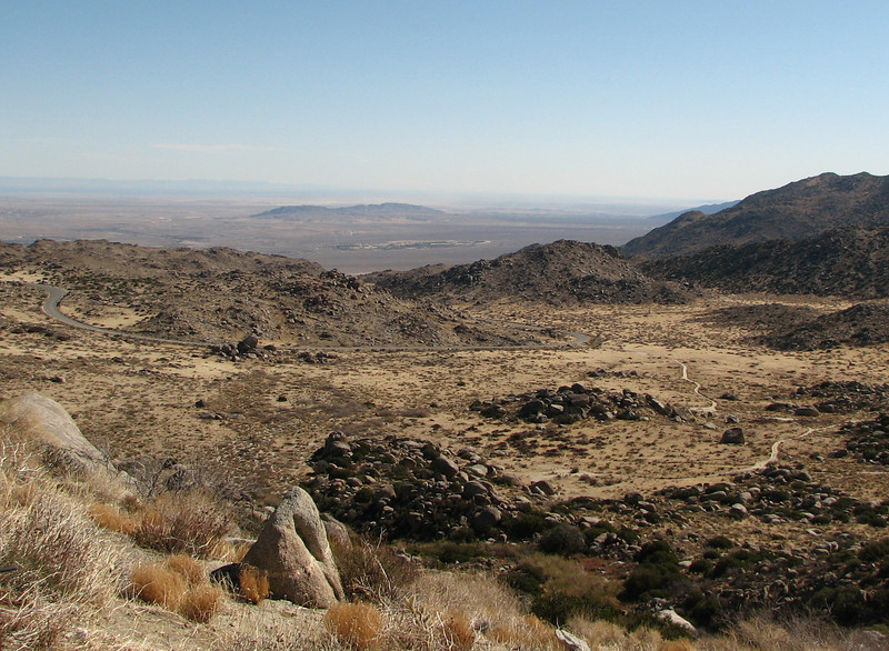 Anza-Borrego Desert State Park with Town of Borrego Springs in the Distance  2-14-07