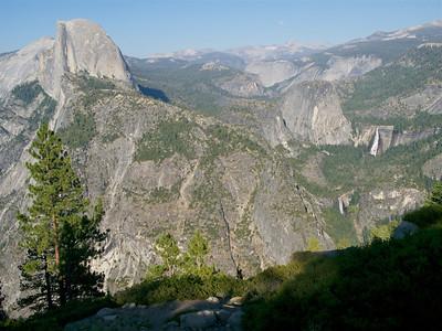 Half Dome, Vernal Falls (below) and Nevada Falls Yosemite NP Copyright 2010 Neil Stahl