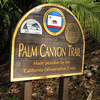 Signage - Palm Canyon Trail - Scenes at Balboa Park, San Diego 2-13-07