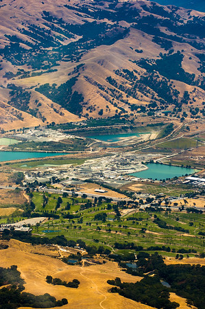 Aerial View of East Bay during the summer