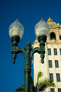 Beverly Hills City Hall, and old street lights