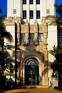 Beverly Hills City Hall main entrance
