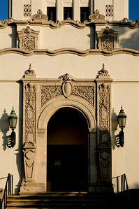 Beverly Hills City Hall ornate entrance