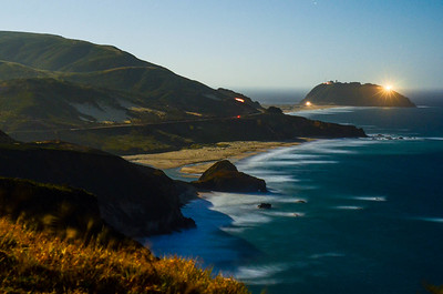 Full Moon rising over Point Sur