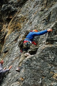 My first attempts at photographing rock climbers.