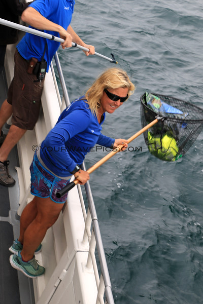 2019-06-23_685_Channel Islands_Island Adventure_Balloon Retrieval_Dave_Lisa.JPG<br /> <br /> Lisa and Dave retrieved this discarded mylar balloon so none of the marine life would be hurt by it.