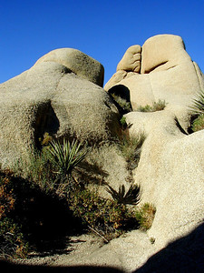 Beautiful giant rocks  at Joshua Tree National Park near Palm Springs, Southern California