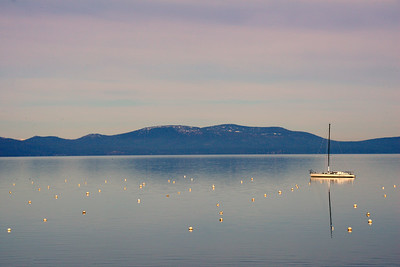 Sailboat - Sunrise - Lake Tahoe - California - USA