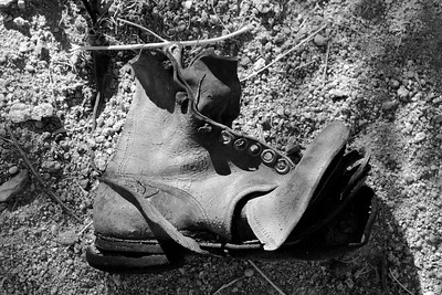 Desert Relics - Old Boot - Desert - Bishop - California - USA