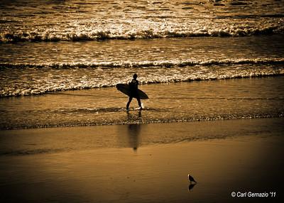 On the Beach at Huntington Beach, CA December 21, 201
