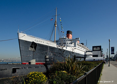 The Queen Mary, at Long Beach, CA December 28, 2011