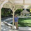 Donna In Garden at Centennial Heritage Museum Garden - Santa Ana, CA  2-16-07