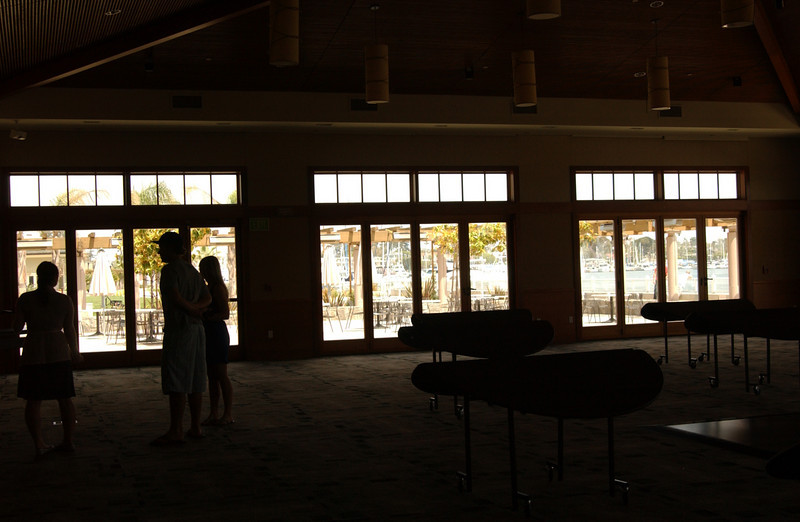 Checking out the reception space