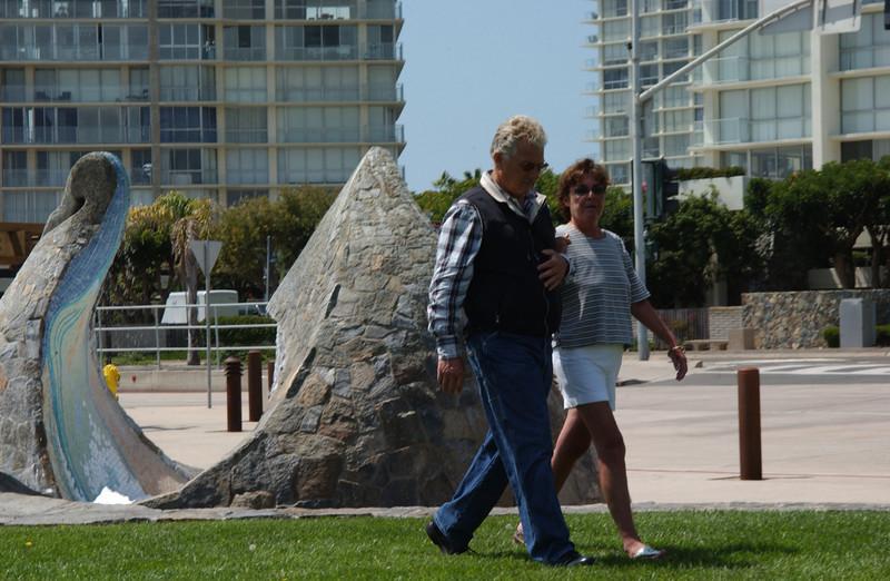 Chris' parents practicing the walk