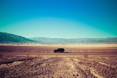 A Jeep Wrangler in the desert