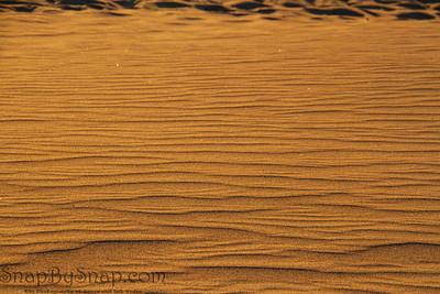 Ripples in the desert sand