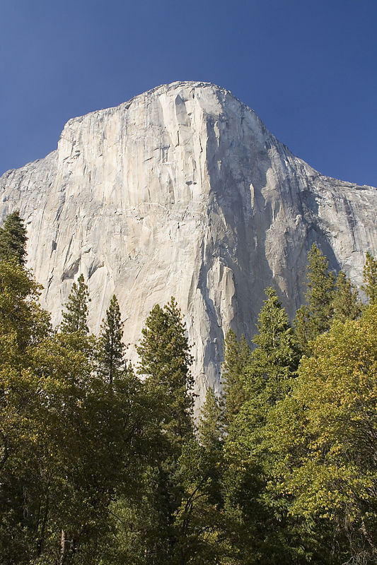 El Cap is the largest monolith in America (900 meters high and 1,600 meters wide).