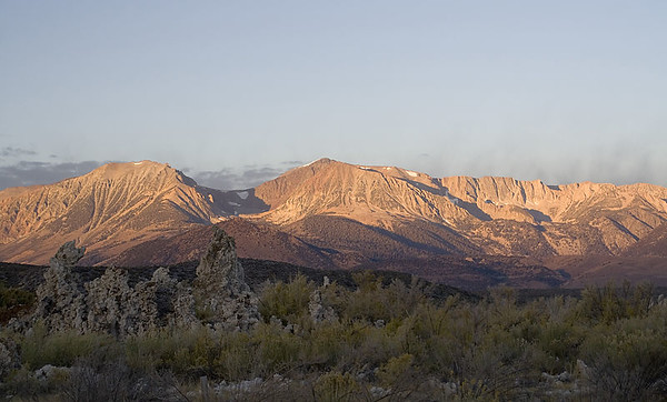 Sunrise over Mt. Warren (view from Mono Lake).
