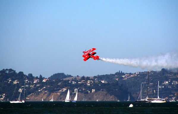 Team Oracle, piloted by Sean Tucker, has flown more than 700 performances and entertained over 60 million people.